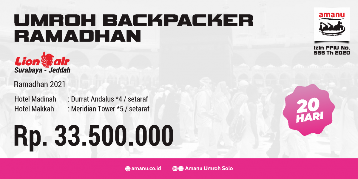 Umroh Backpacker Ramadhan 2021