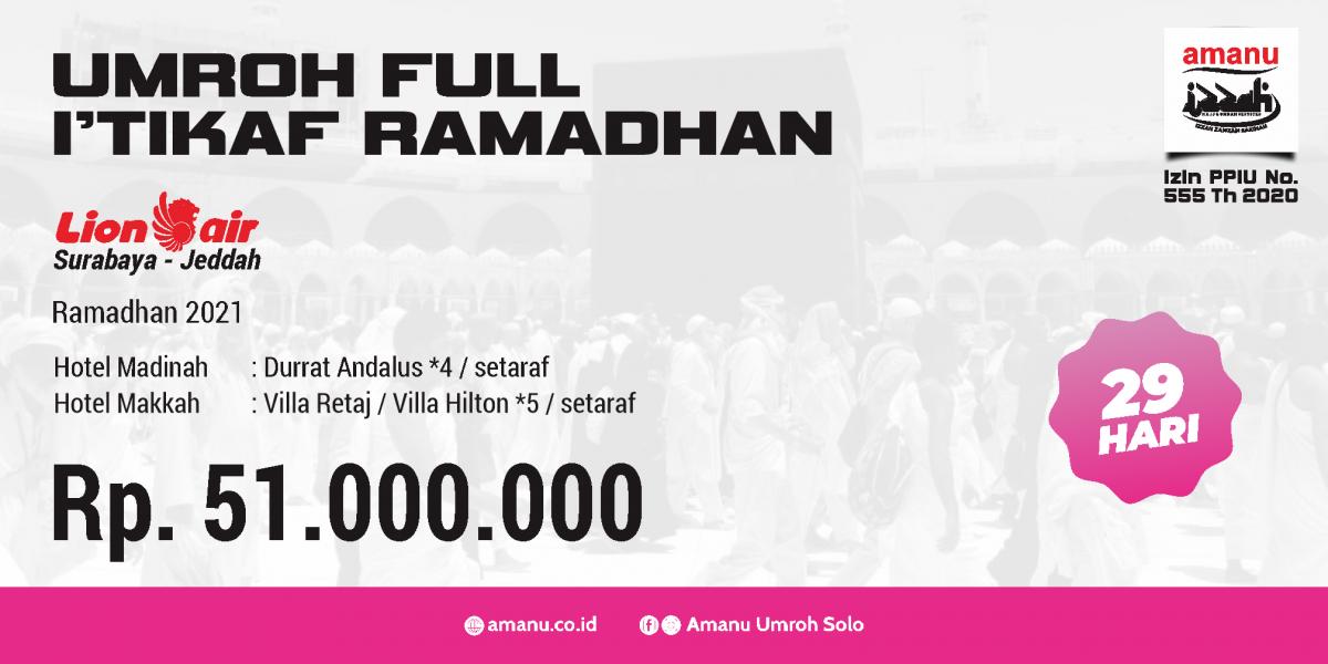 Umroh Full I'tikaf Ramadhan 2021