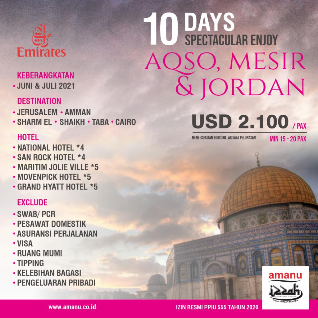 Aqso, Jordan, Mesir PT AMANU